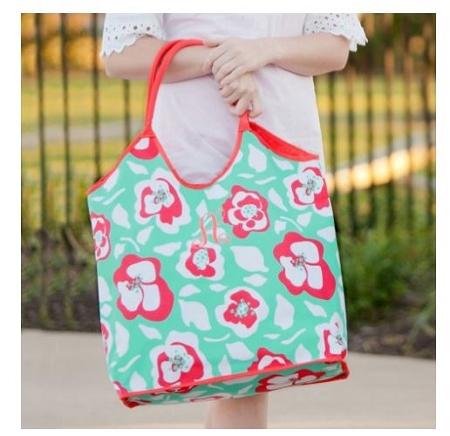 monogrammed flora bora beach bag