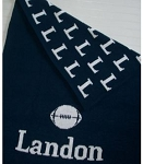 Personalized Knit Football Blanket