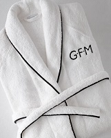 monogrammed matouk bathrobe