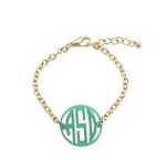 Initials in Circle Cutout Acrylic Bracelet
