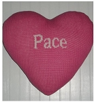 Custom Knit Personalized Heart Shaped Pillow