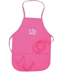 Personalized Child's Hot Pink Apron