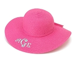 Monogrammed Child's Hot Pink Floppy Hat