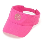 Monogrammed Ladies' Hot Pink Visor