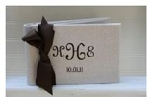 Monogrammed Guest Book for Weddings
