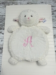 Monogrammed Plush Animal Baby Mat