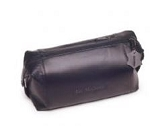 monogrammed men's leather dopp kit