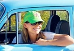 Lime Green Monogrammed Ball Cap
