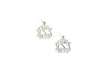 Medium Monogrammed Sterling Silver Filigree Earrings