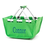 Personalized Mini Market Tote Green