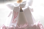 Monogrammed Pony Tail Grosgrain Hairbow