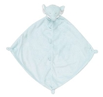 Monogrammed Baby's Lovie Blanket Blue Elephant