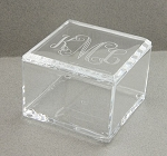 Monogrammed Acrylic Box with Top
