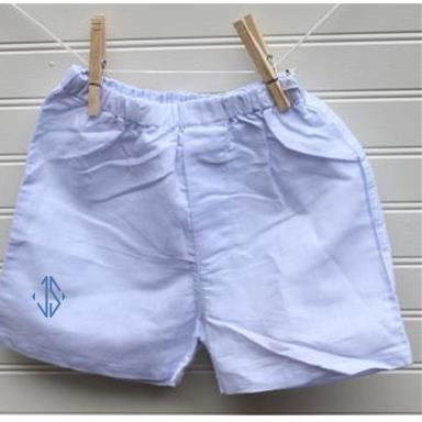 Monogrammed Light Blue Chambray Boxers