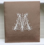 Monogrammed 10.25 x 12 Photo Album-Filigree