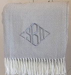 Monogrammed Chevron Throw Blanket