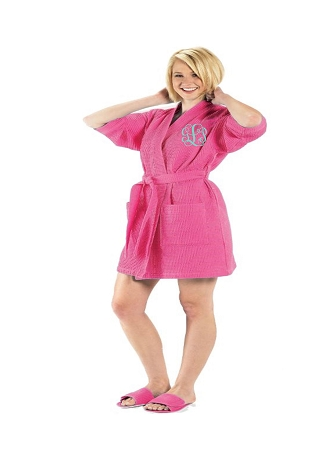 Monogrammed Bright Color Waffle Robes