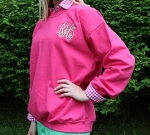 monogrammed ladies sweatshirt