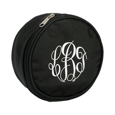 Monogrammed Black Jewelry Case