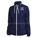 Monogrammed Ladies Beachcomber Jacket Navy