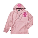 Monogrammed Ladies Pink Wind Breaker