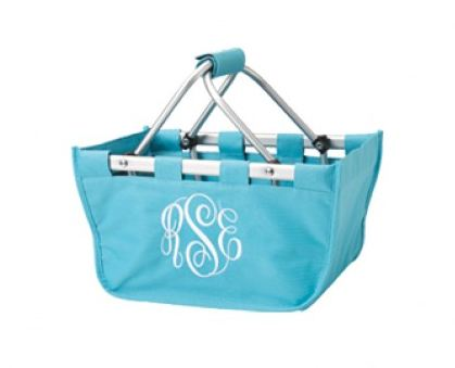 Personalized Mini Market Tote Turquoise