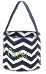 Personalized Navy Chevron Easter Bucket