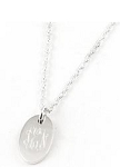 Monogrammed Oval Sterling Silver Pendant