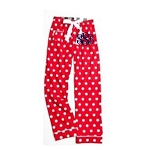 Monogrammed Red Polka Dot Pajama Pants