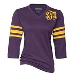 Ladies Monogrammed Purple Raglan T-Shirt