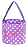 Personalized Purple Polka Dot Easter Bucket