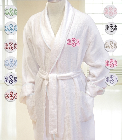 Add to My Lists. White Monogrammed Terry Spa Robe 318f15e3c