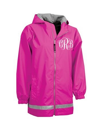 Monogrammed Rain Coat Youth Sizes