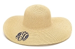 Monogrammed Ladies' Natural Floppy Hat