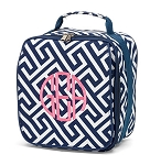 Personalized Navy Greek Key Child's Lunchbox