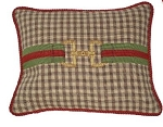 Equestrian Snaffle Bit Needlepoint Pillow