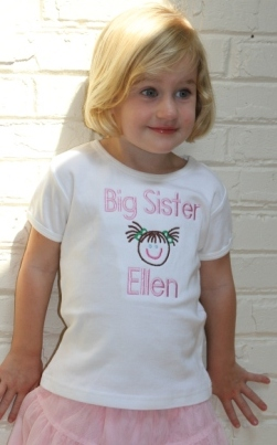 Embroidered Big Sister Shirt