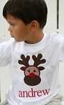 Child's Personalized Applique Reindeer Shirt