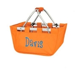 Personalized Mini Market Tote Orange