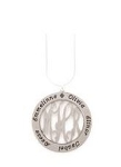 Monogrammed Pewter Mother's Pendant