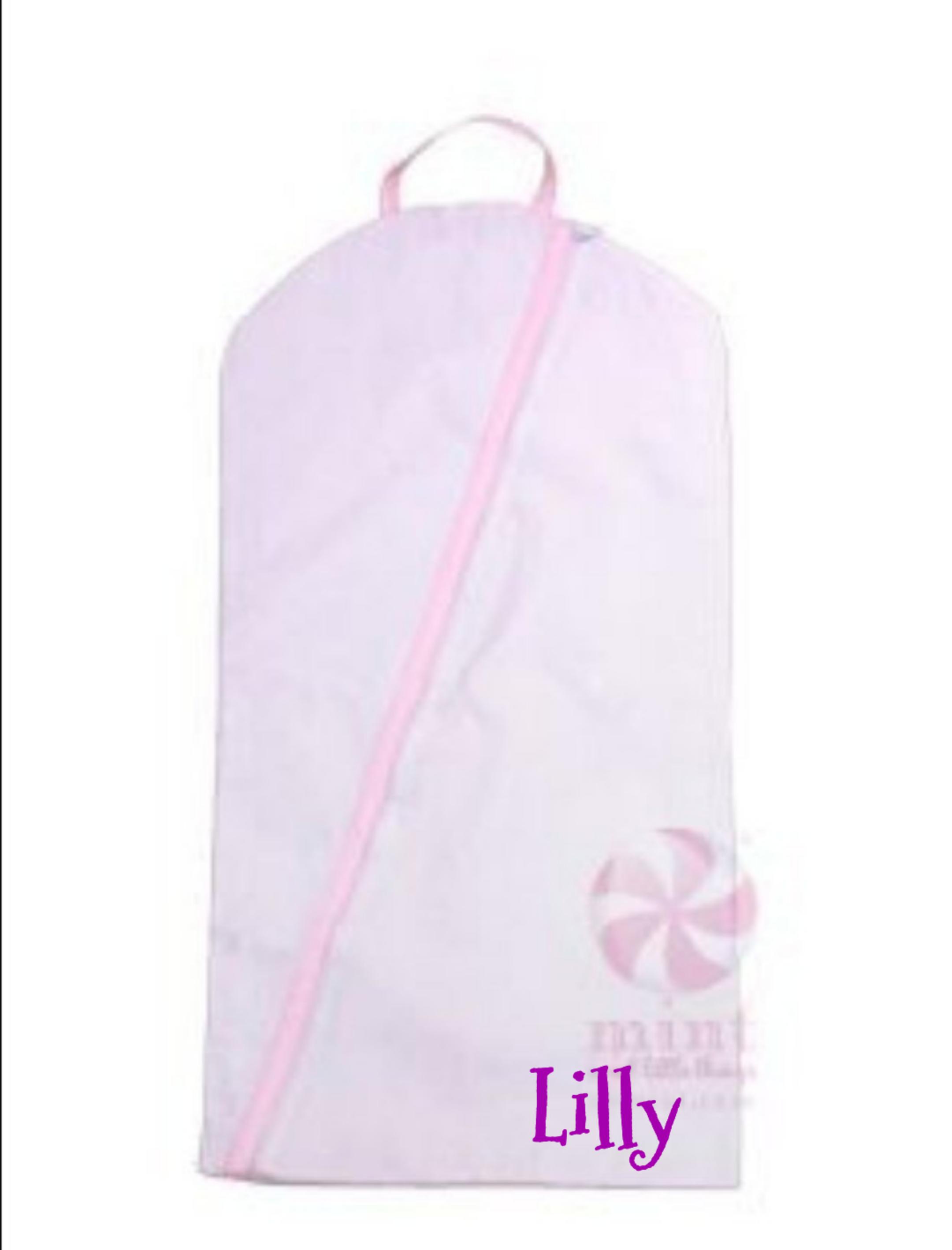 Monogrammed Pink Garment Bag