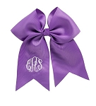 Monogrammed Purple Grosgrain Hair Bow