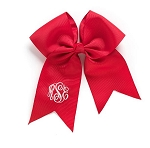 Monogrammed Red Grosgrain Hair Bow