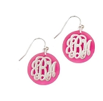 Monogrammed Serendipity Acrylic Earrings