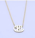 Petite Circle Sterling Silver Monogram Necklace
