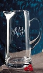 Monogrammed Tankard Glass Pitcher