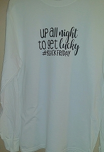 Up All Night To Get Lucky White Long Sleeve White Shirt