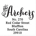Personalized Return Address Stamp -The Archer