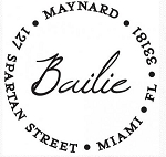Personalized Return Address Stamp-The Bailie