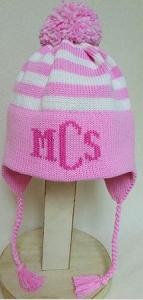 74c8e48b297 Personalized Striped Ear Flap Winter Hat